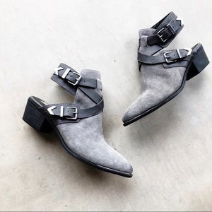 CIRCUS By SAM EDELMAN Gray Leather Suede Booties